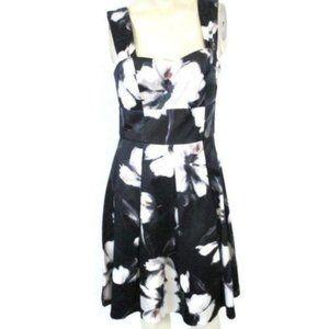 White House Black Market pink black Floral Dress 0